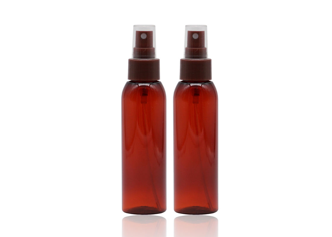 Empty Refillable Plastic Spray Bottles Dark Brown Color 24mm Neck Size 100ml