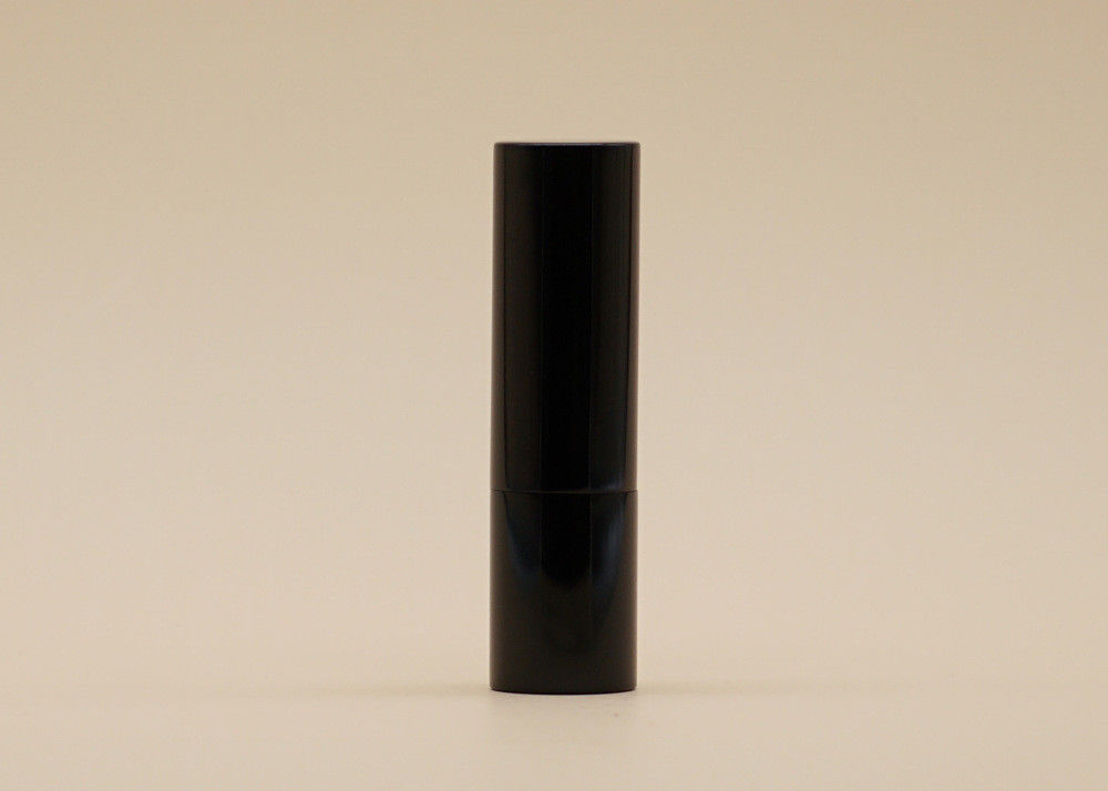 Glossy Black Custom Made Empty Lipstick Containers Smooth Feel 5g Volume