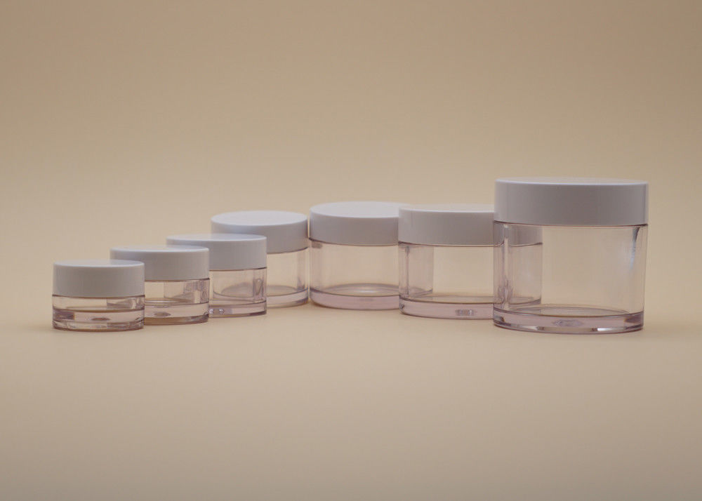 PETG Makeup Cosmetic Cream Containers , Empty Face Cream Containers