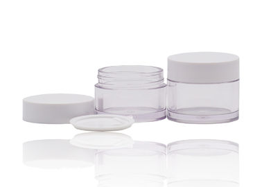 PETG Plastic Cream Jars Cosmetic Packaging With PP White Cap For Beauty Products