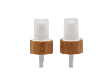 Bamboo Closure 24 / 410 Plastic Treatment Pump For Cosmetic Packaging